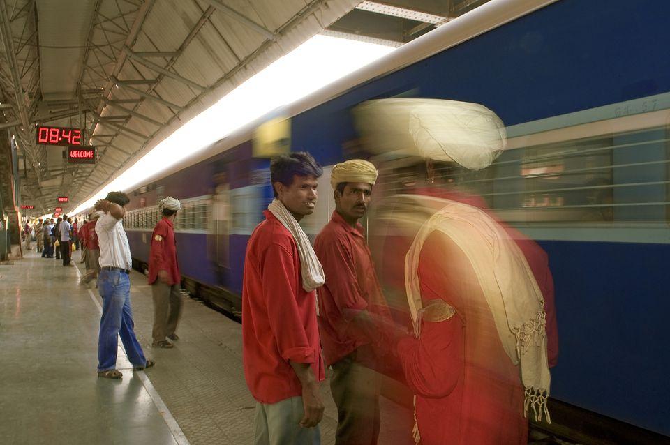Platform at Jaipur Train Station.