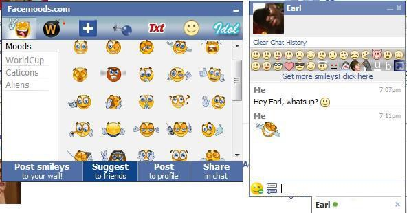 Smileys for Facebook Chat