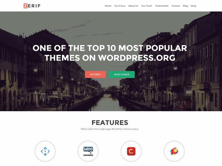 Zerif Lite WordPress Theme