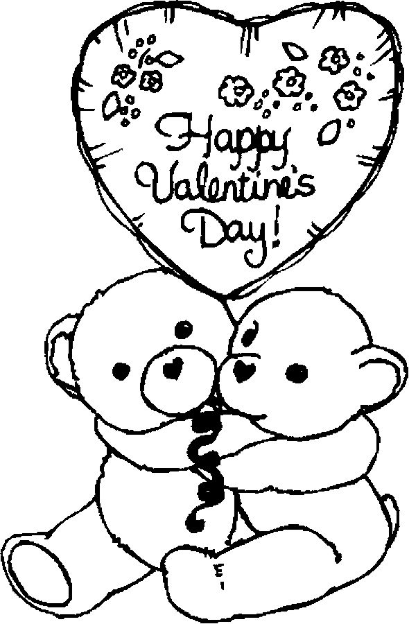 Coloring Book Funs Free Valentine Pages