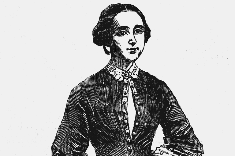 Amelia Bloomer, American feminist and champion of dress reform, c1850s.
