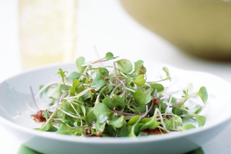 Broccoli sprout salad