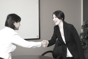 Businesswomen Handshake