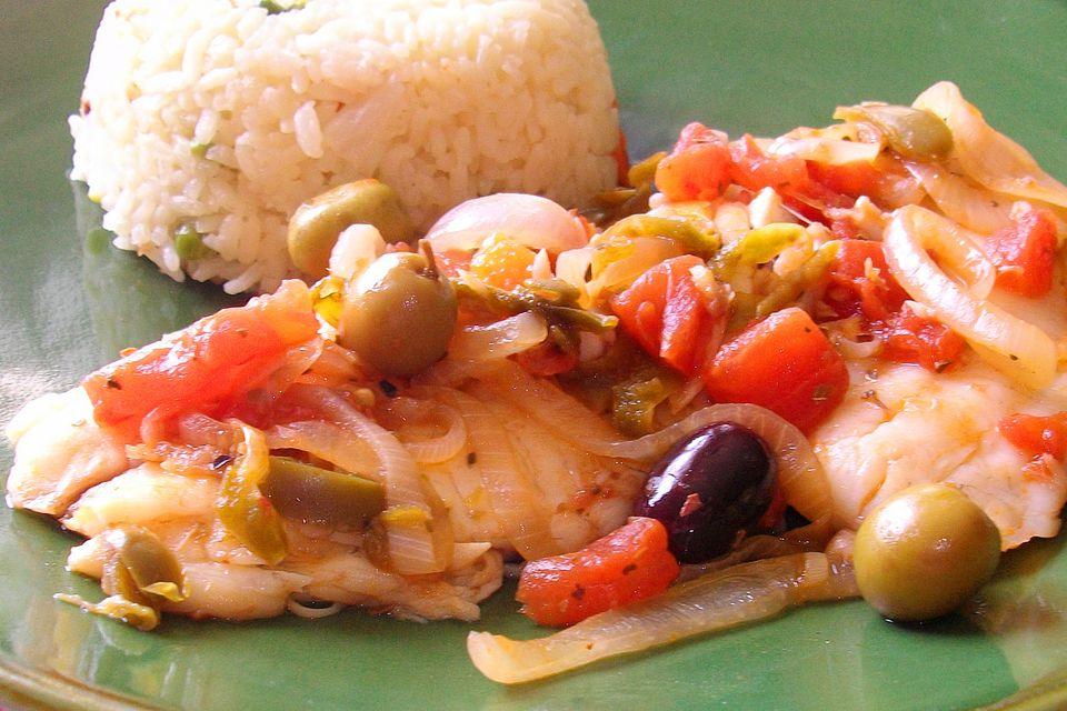 Veracruz sauce recipe for chicken or fish a la veracruzana for Fish veracruz recipe
