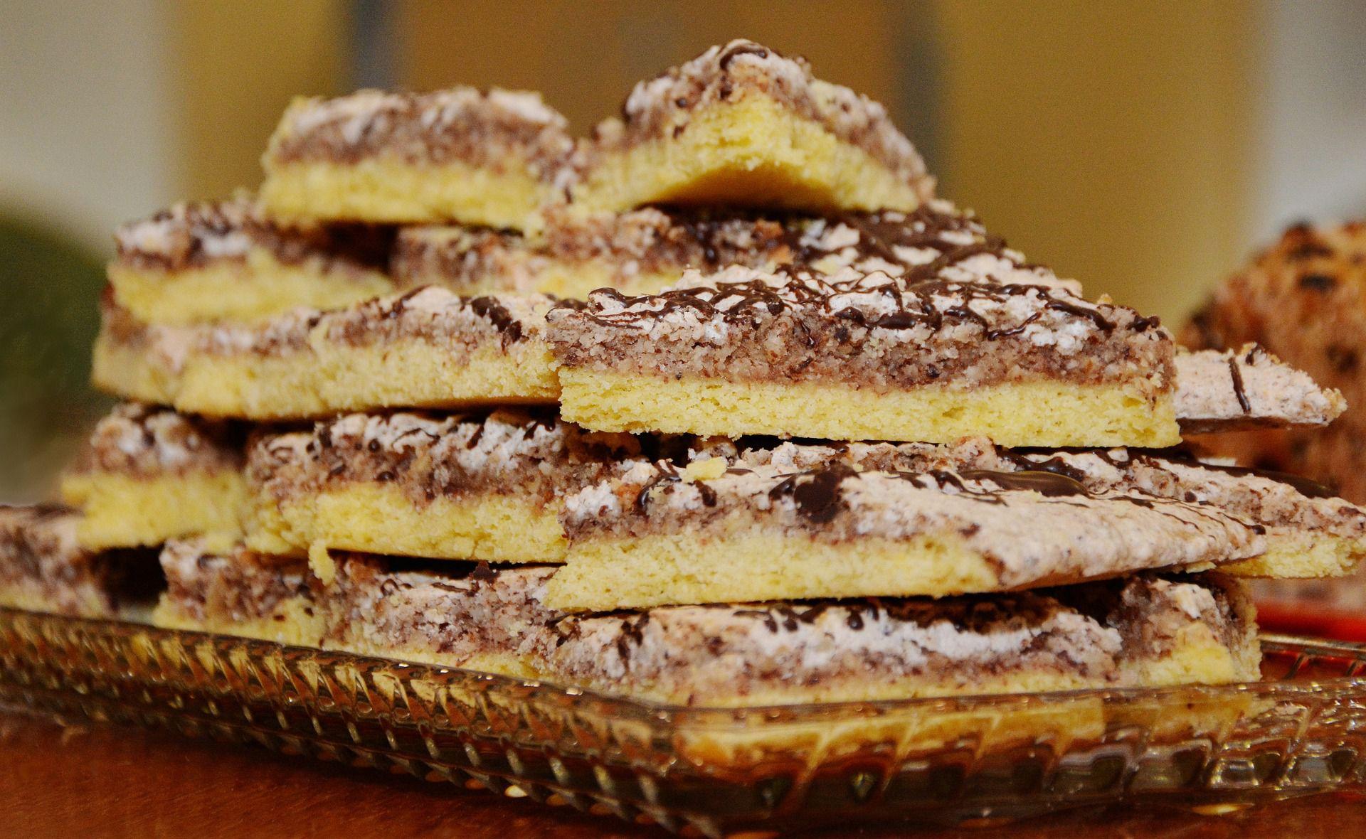 German Mini Nut Bars Nussecken Recipe