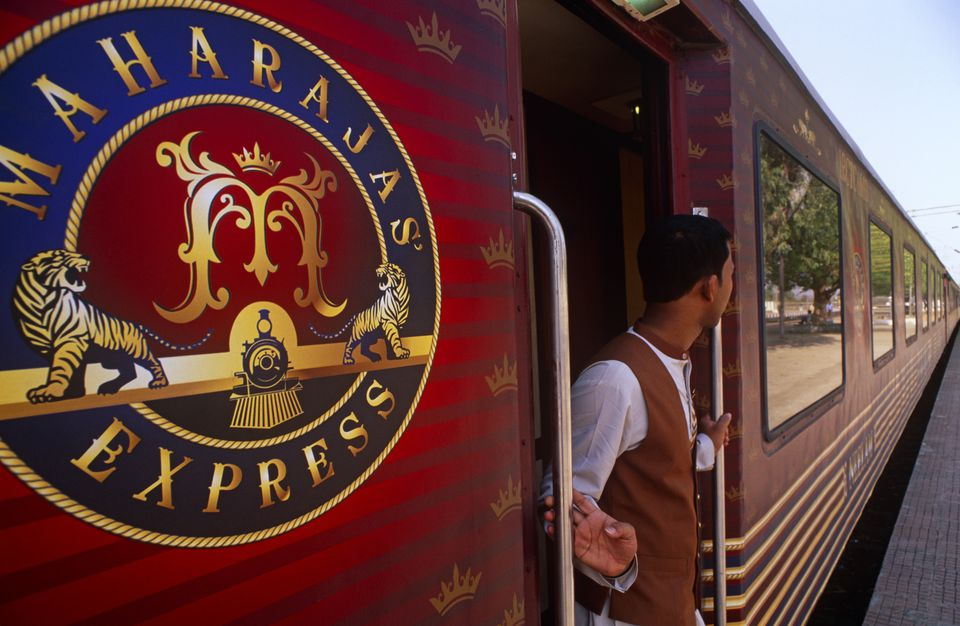 Maharaja's Express luxury train in India.