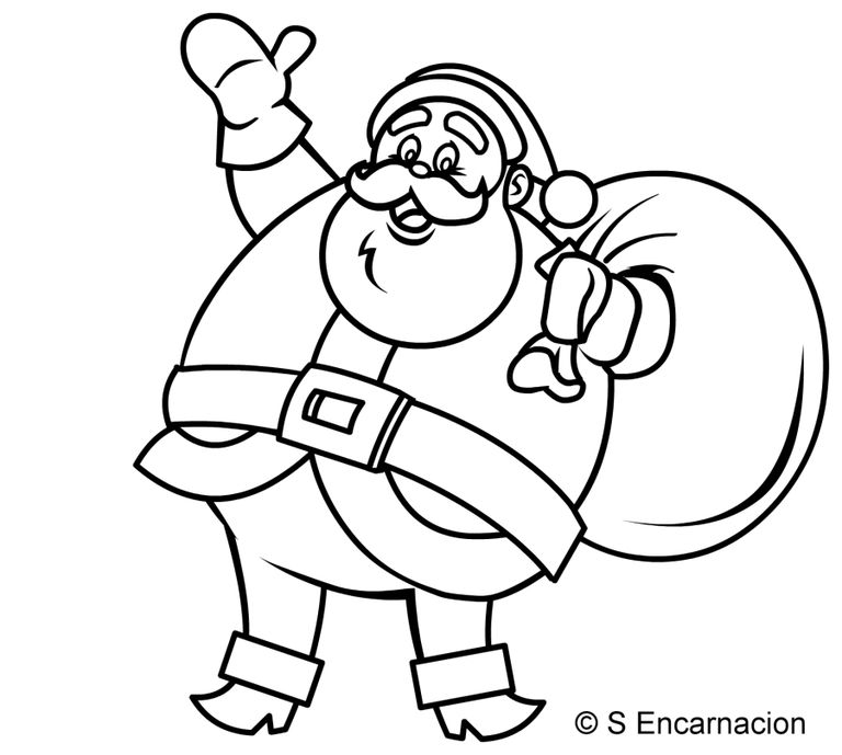 How To Draw A Simple Santa Claus