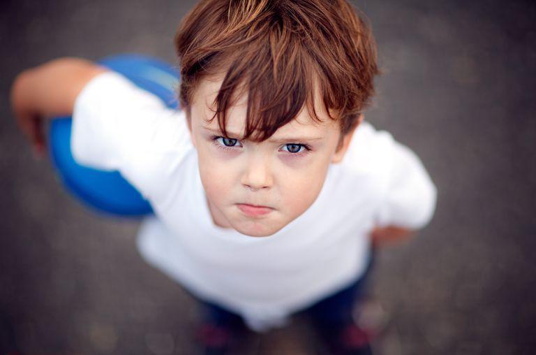 boy angry, defiant, talking back