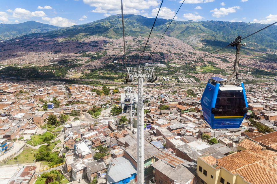 Colombia, Antioquia Department, Medellin, Comuna 1, Popular neighbourhood