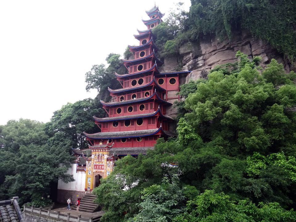 Shibaozhai Temple on the Yangtze River in China