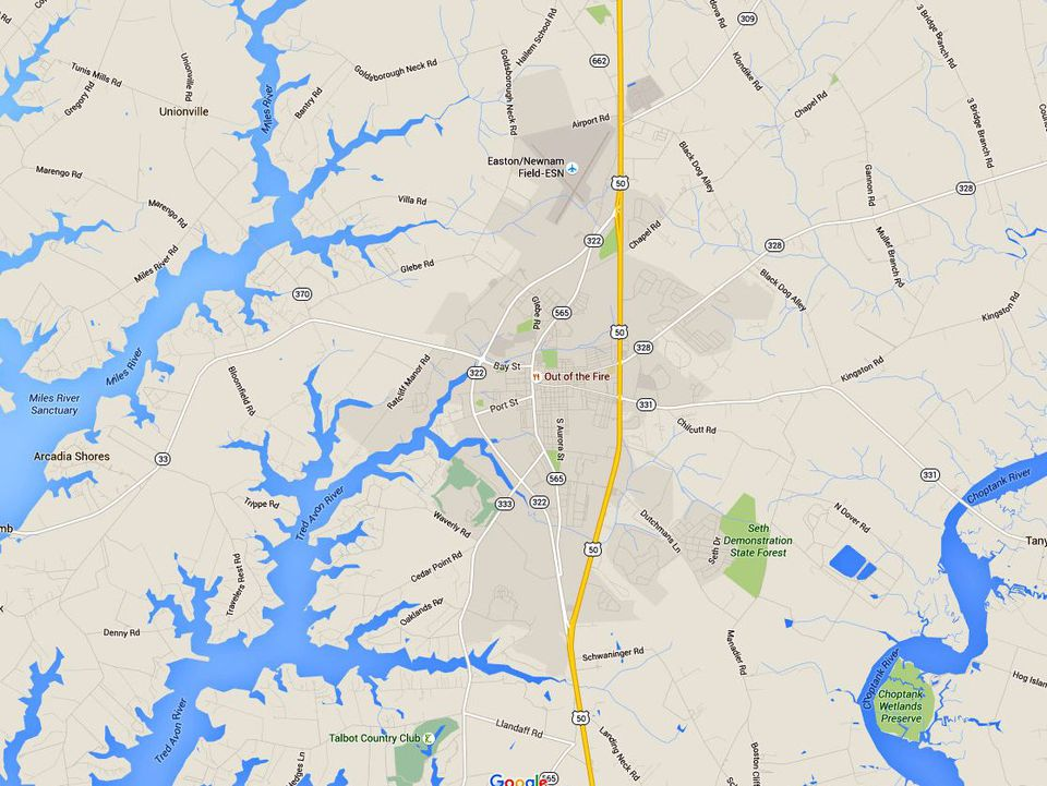 Maps and Directions to Maryland Eastern Shore Towns