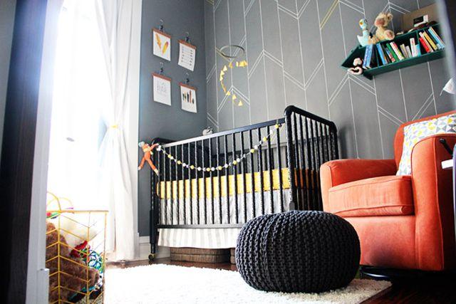 Grey, Yellow & Orange Nursery