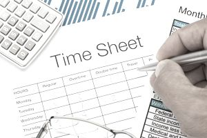Filled out Time Sheet