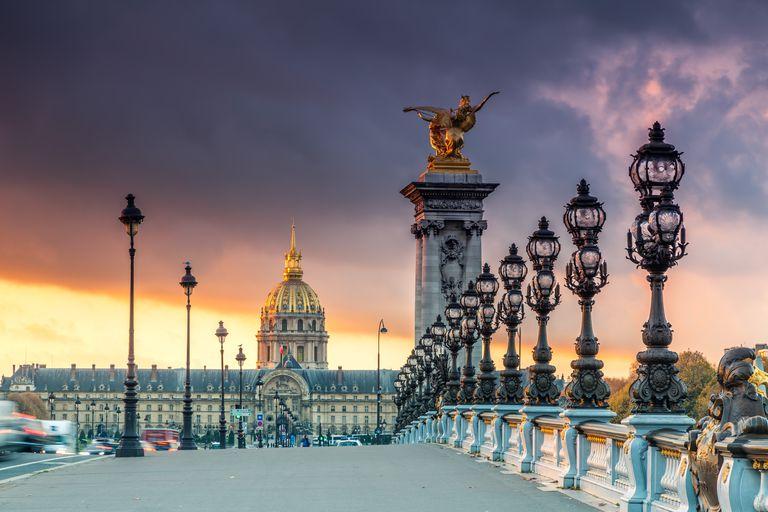 Bridge Alexandre III and Les Invalides, Paris