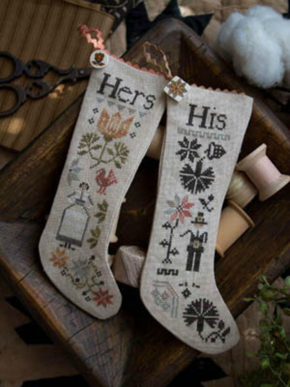 thanksgiving stockings cross stitch pattern