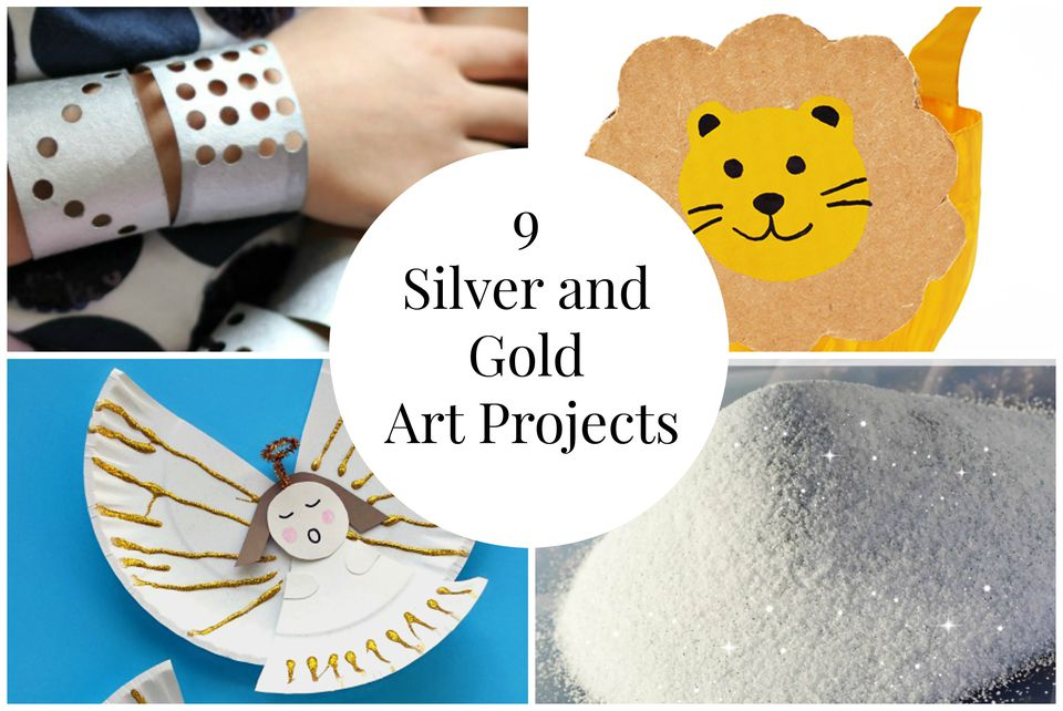 9 Silver and Gold Art Projects