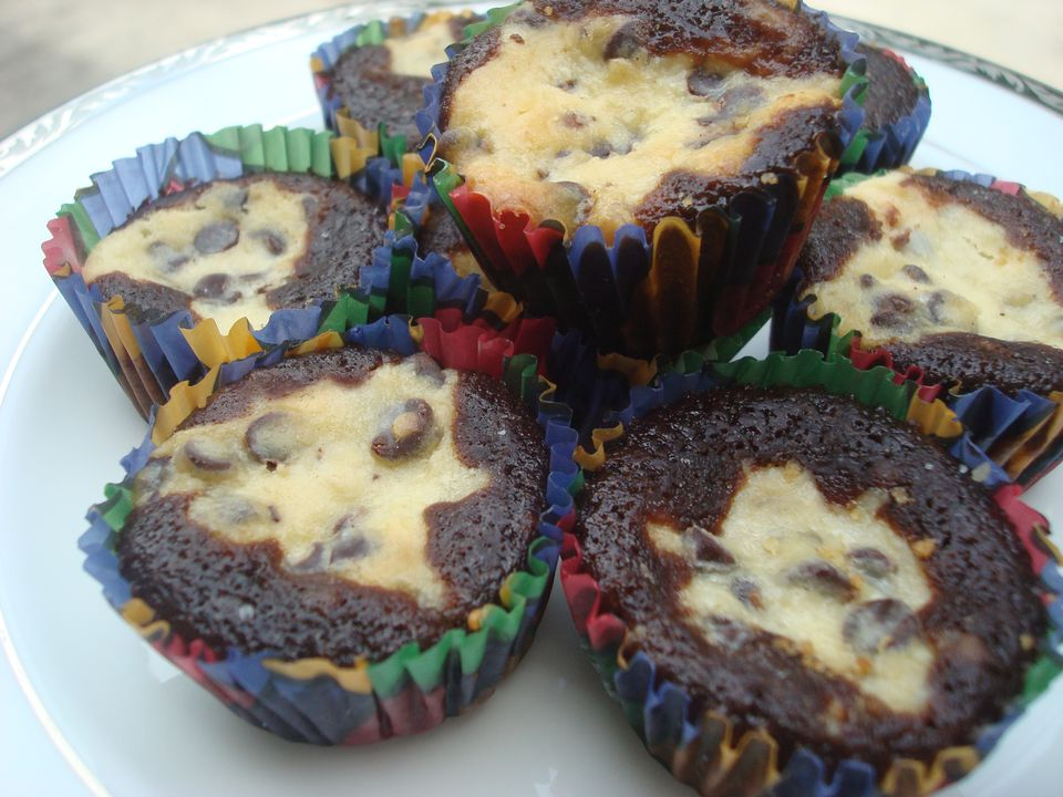 Chocolate and Cheesecake Cupcakes