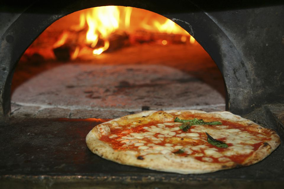 Traditional pizza oven, Naples, Italy.