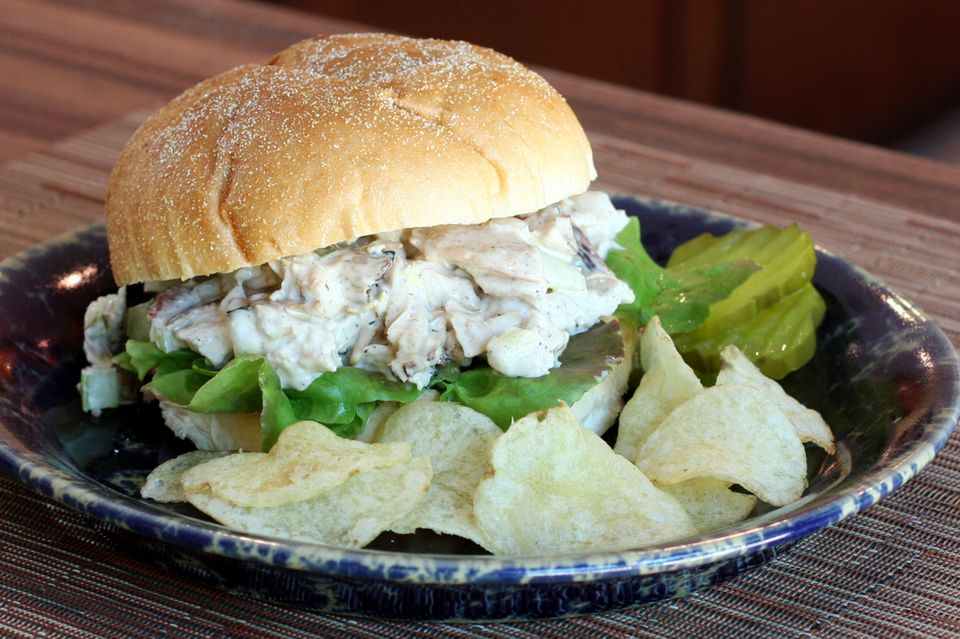 Turkey Salad in a Sandwich