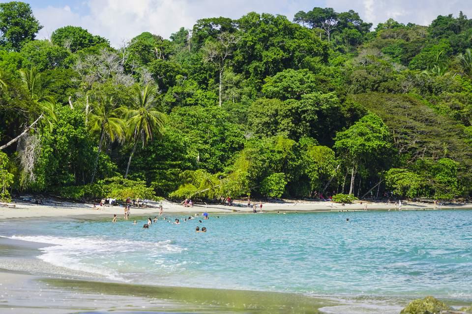 Manuel Antonio beach in The Manuel Antonio National Park