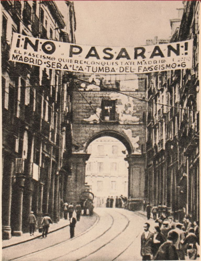 republican banner during the Spanish Civil War
