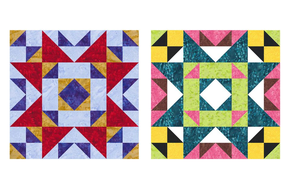 Old Maid's Puzzle Quilt Block Pattern