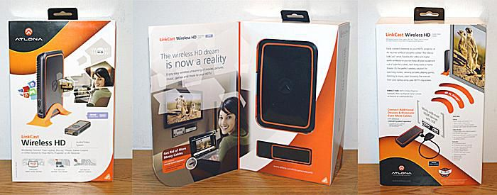 Atlona LinkCast Wireless HD Audio/Video System - Box - Triple View