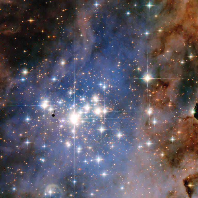 bright stars show different luminosities