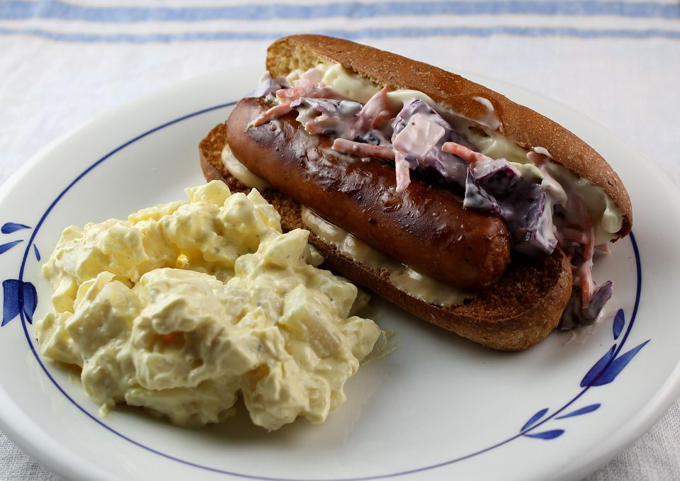 Sausage and Slaw Sandwich