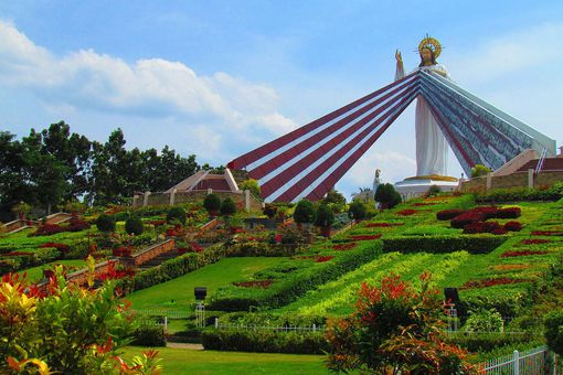 Divine Mercy Statue on Hillside