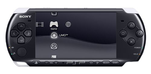 PSP-2000 Piano Black - front view