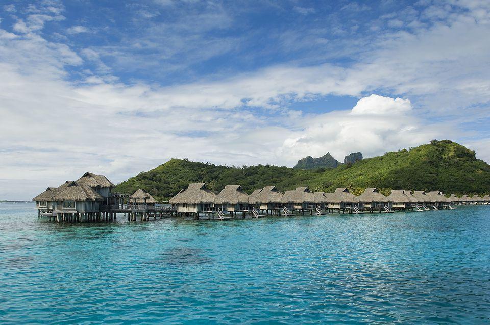 Bora Bora, Tahiti, French Polynesia, bungalows