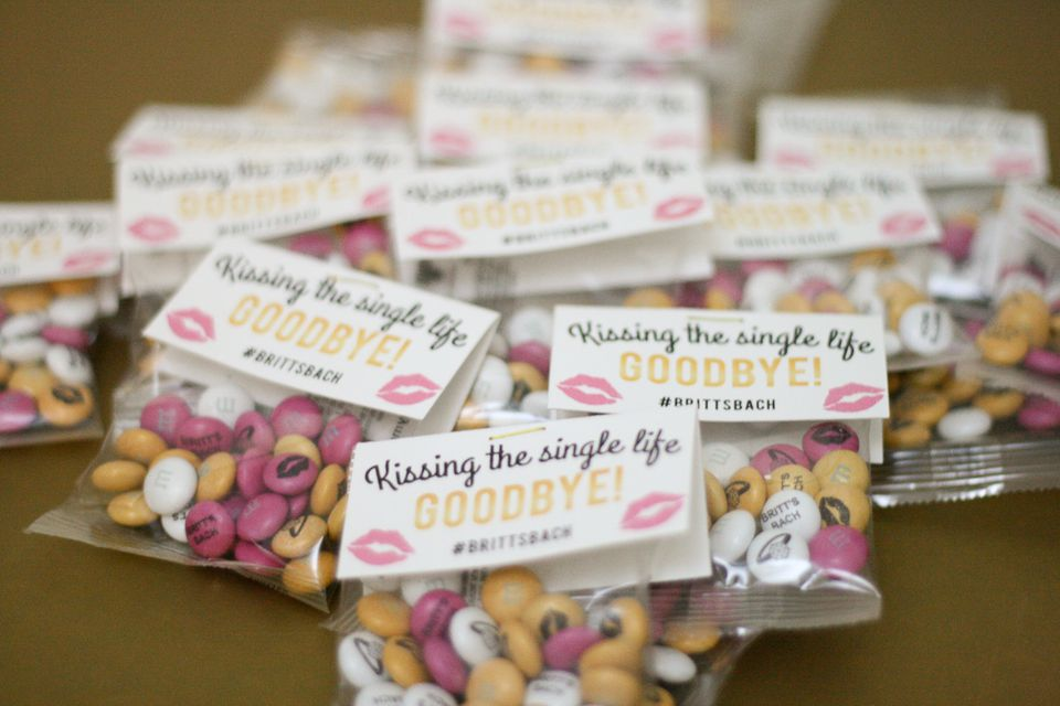 Custom Printed MMs Bachelorette Party Favors