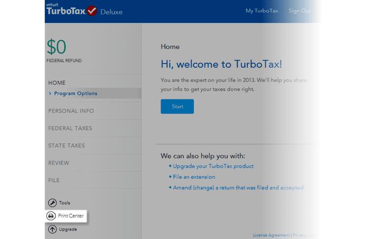 TurboTax Online Print Center