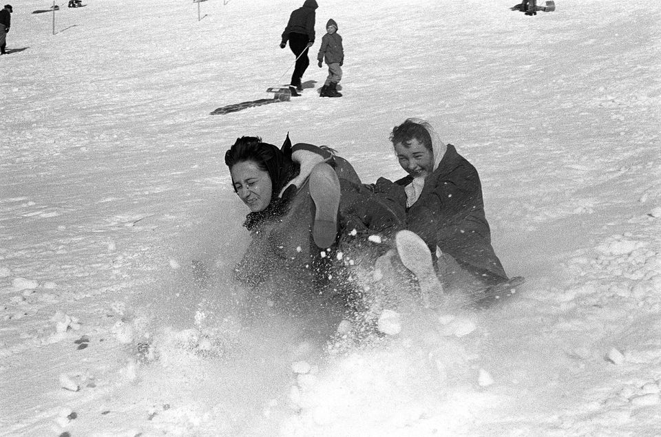 Montreal's best sliding, toboganning and tubing hills: Mont-Royal.