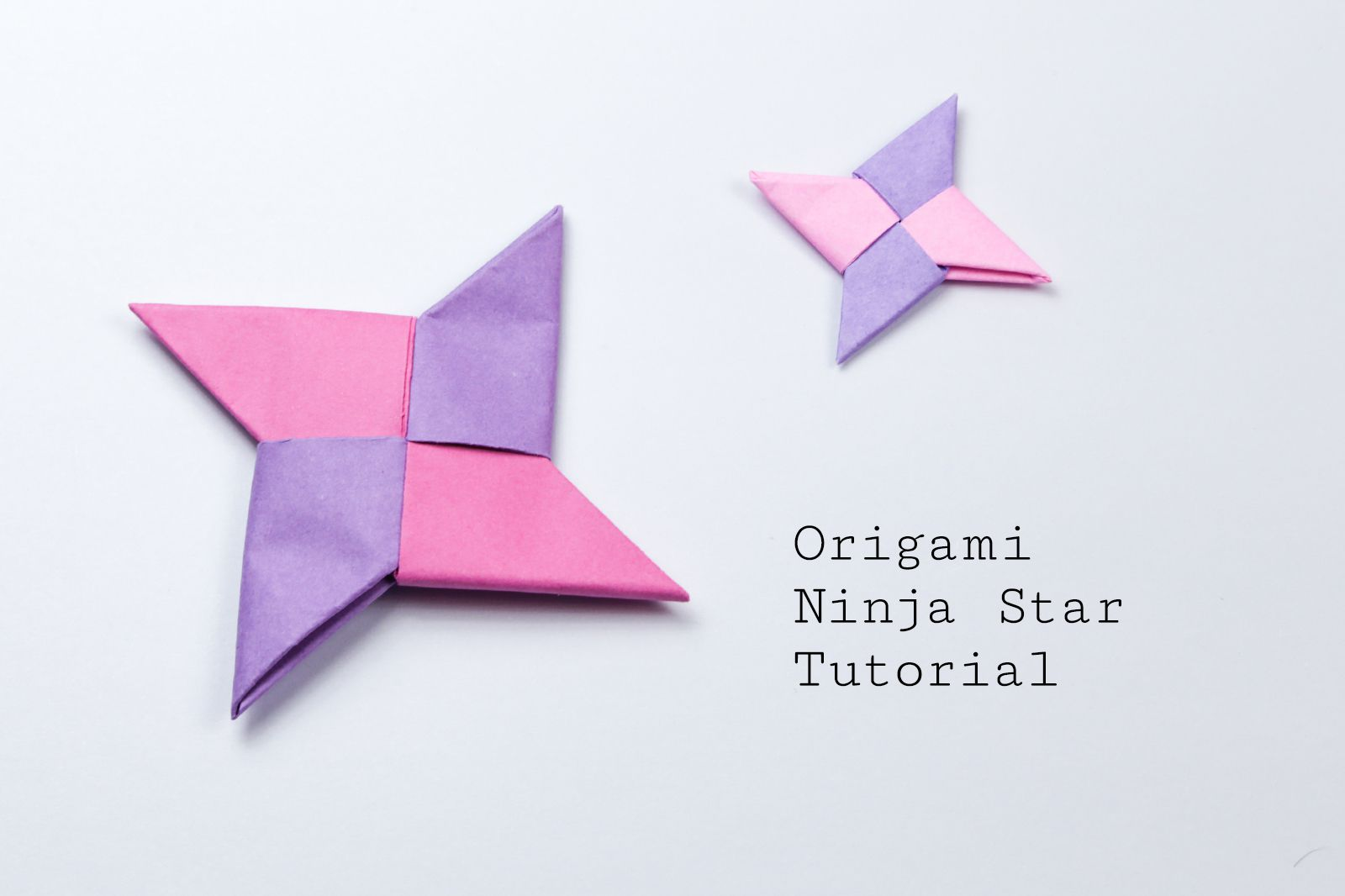 Origami beginner projects easy origami ninja star tutorial jeuxipadfo Choice Image