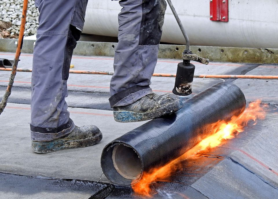 Torch Down Flat Asphalt Rolled Roofing