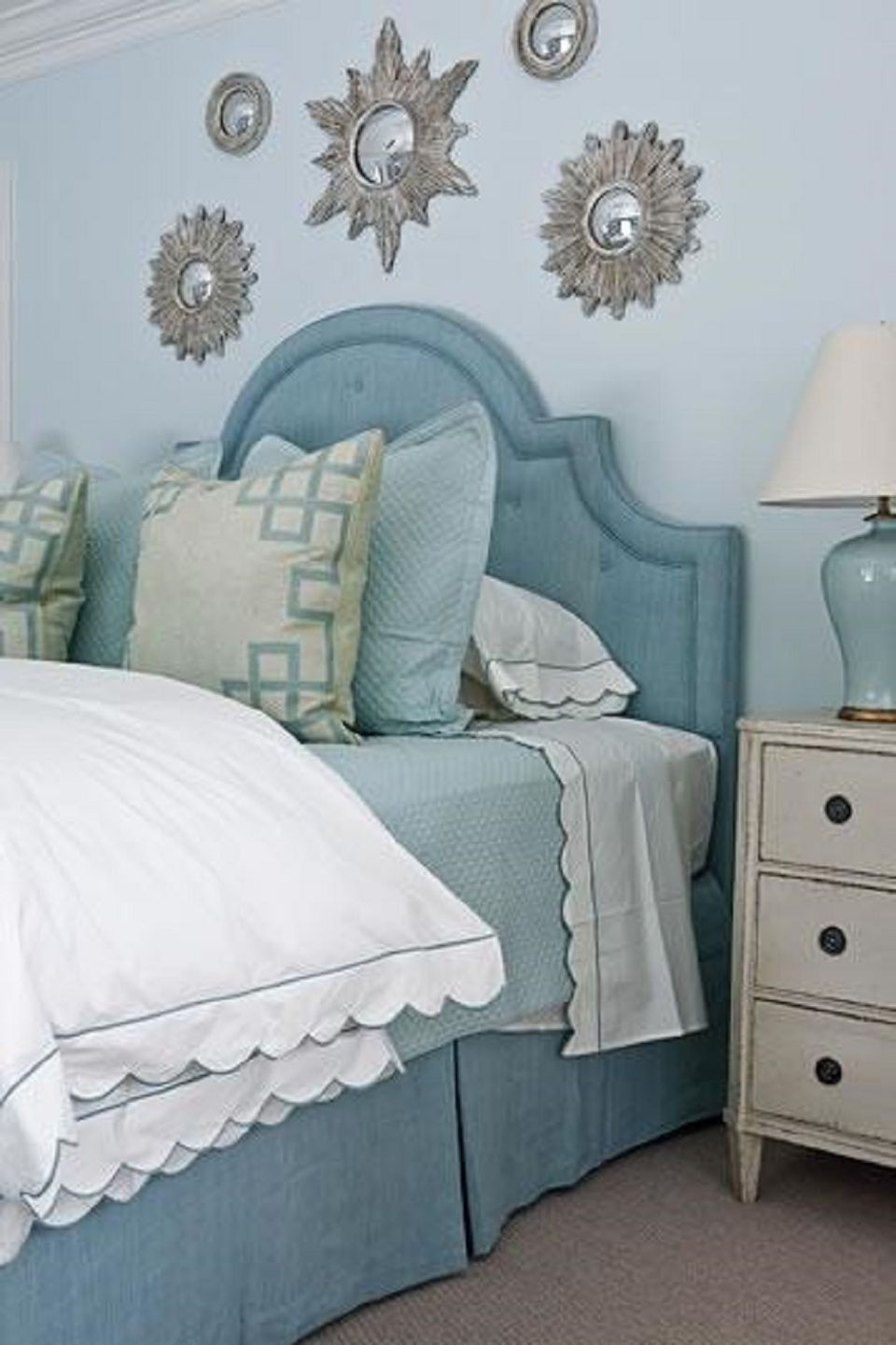 Bedroom with light blue walls  25 Stunning Blue Ideas