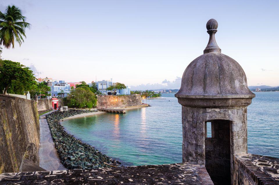Turret along Old San Juan Wall in Puerto Rico