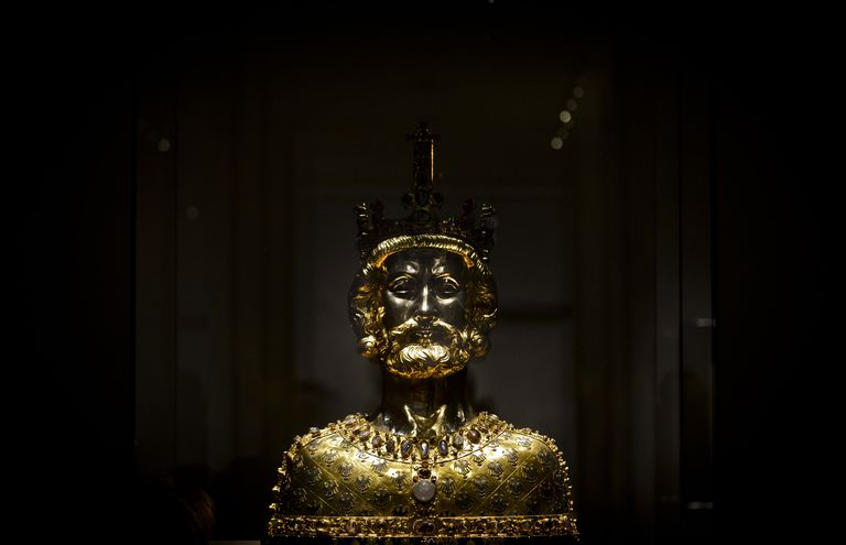 A bust of Charlemagne