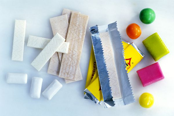 Assorted types of chewing gum