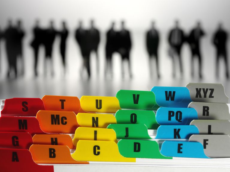 settings Alphabet Paper File Dividers and Business People