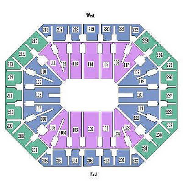 Seating Chart for Talking Stick Resort Arena in Phoenix AZ