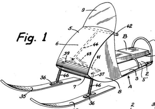 Patent Drawing for Snowmobile 3023824