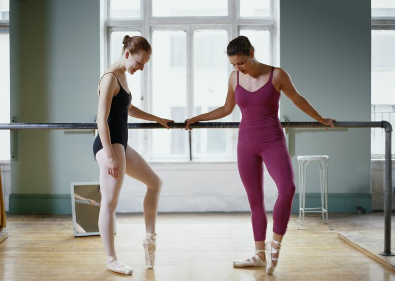 Two Ballet Dancers in a Dance Studio