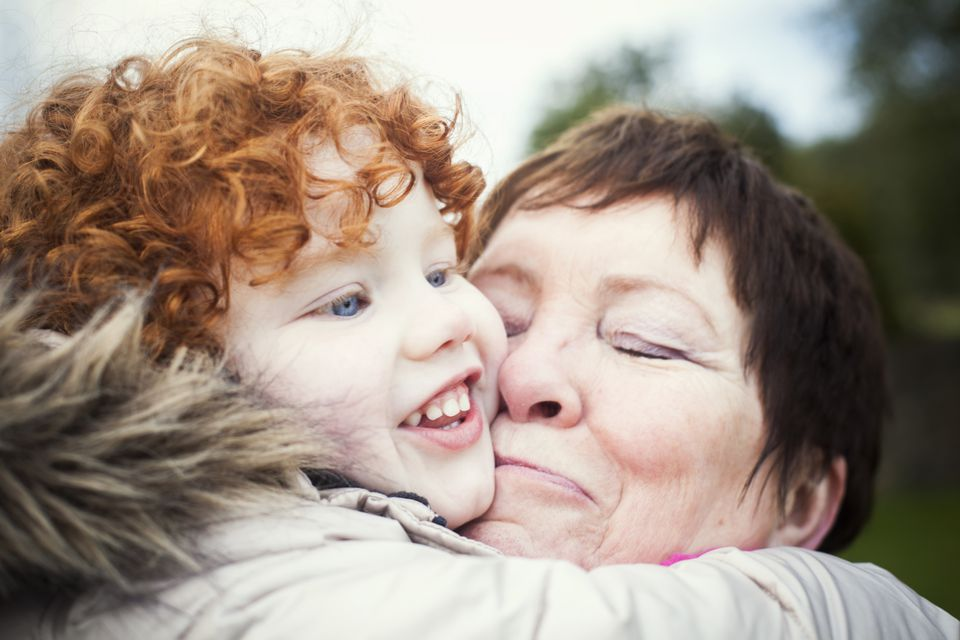 irish grandmother and granddaughter