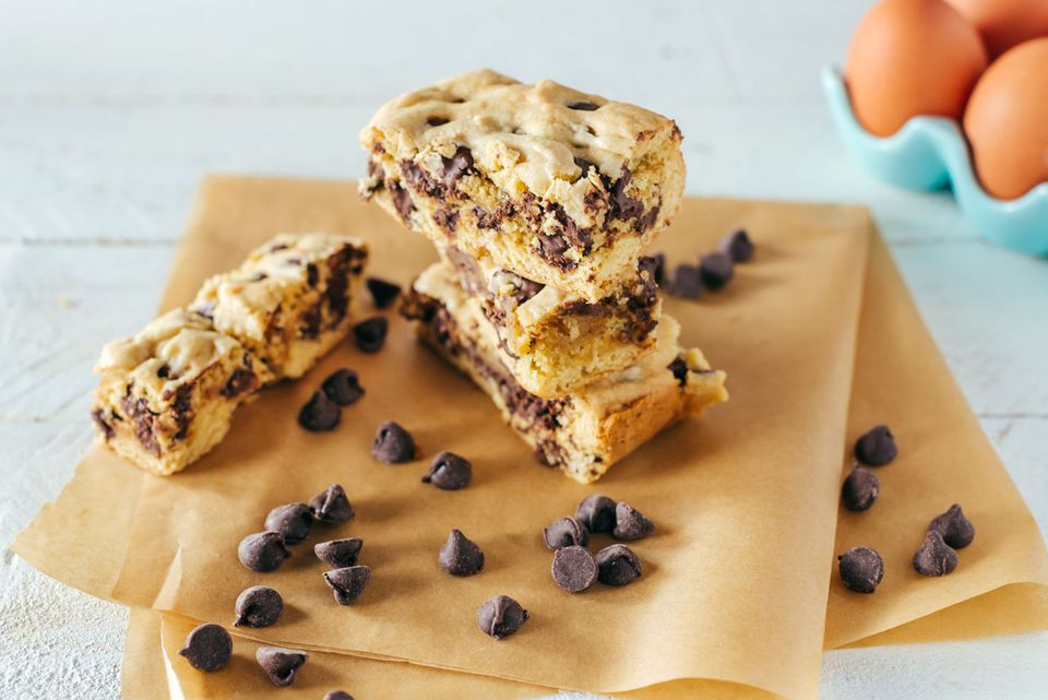 Dairy-free chocolate chip blondies