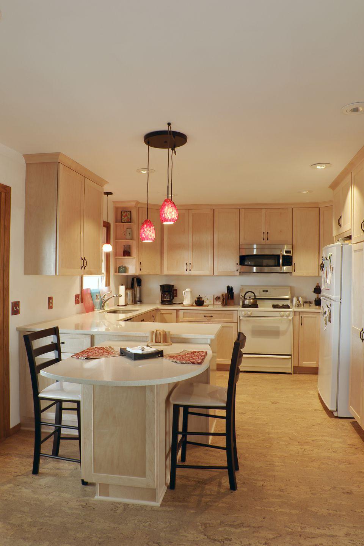 Updated Kitchen with cork floor