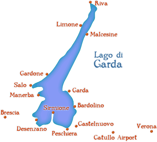 Italy Lake Region Including Maps And Travel Information: Lake Garda Italy Map At Infoasik.co