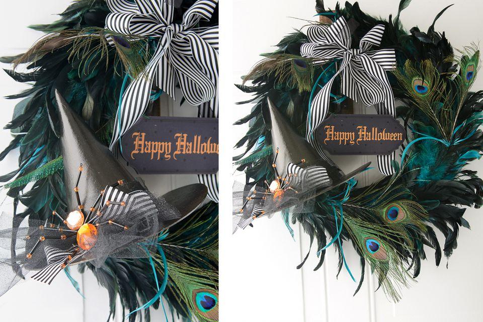 Peacock-feather-halloween-Wreath